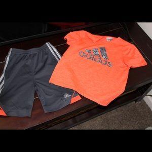Adidas t-shirt and short set